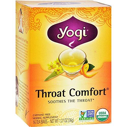 YOGI TEA,OG2,THROAT COMFORT, 16 BAG