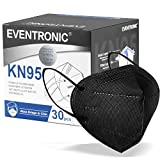 Eventronic- Mascarilla FFP2/KN95 5-Layer Protective Face Mask, CE Certified,Black (30pcs/Box, Each in Individual Pack)