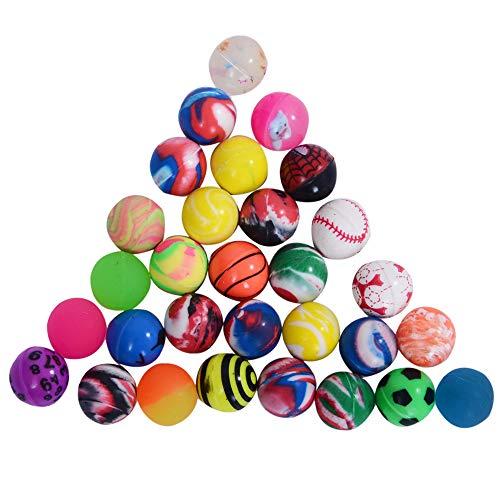 Onepine 30PCS 25mm Bouncy Balls Assorted Rubber Balls,Party Bag Filler,High Bouncing Balls for Kids