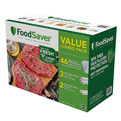 FoodSaver Bag Combo Rolls & Precut Bags in 1 Pack