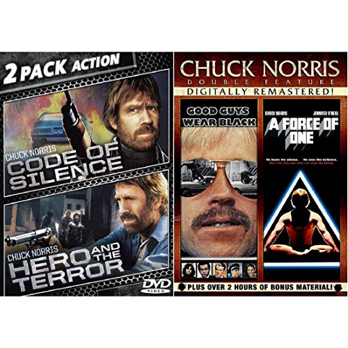 Chuck Norris 4 Movie Collection: The Code Of Silence / Hero And The Terror / Good Guys Wear Black / A Force Of One DVD Starring: Bill Wallace, Ron O'Neal, Jennifer O'Neill (Director: Paul Aaron)