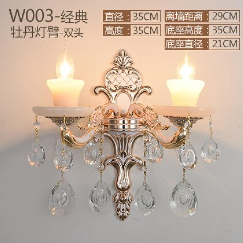 StiefelU LED Jade Wandleuchte crystal Wandleuchten am Bett Schlafzimmer WandWandleuchte ist aus Fahrscheinwerfer, Dual Head 330m-JD