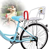 GLJY Asiento de Bicicleta/portabebés para Bicicleta, portabebés Trasero para Bicicleta Asiento para bebés con Pedales, se Monta fácilmente en la Rueda Trasera de la Bicicleta, para niños, niños
