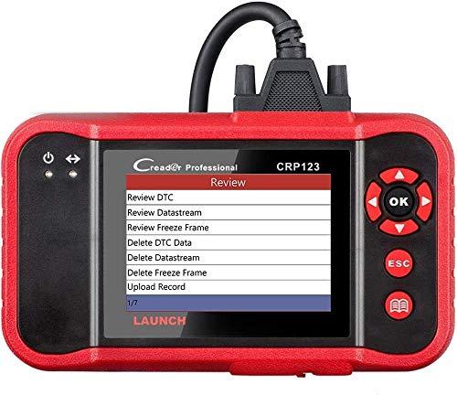 LAUNCH Strumento di scansione CRP123 OBD2 Scanner Lettore di codici per auto per autoveicoli 4 Sistemi di diagnostica Strumento di controllo Motore ABS Trasmissione SRS