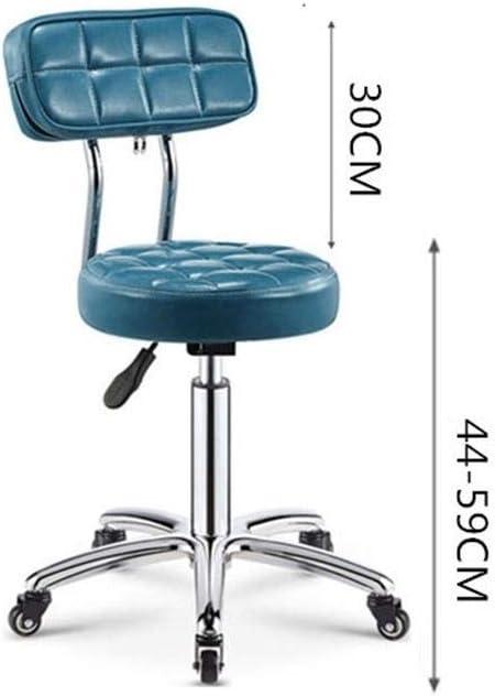 Csq-Confortable Beauté Tabouret, Maison Banc de Travail Chaise Dossier Disponible en Plusieurs Couleurs épais Seat Barbershop Tabouret Meubles décoratifs (Color : B) A