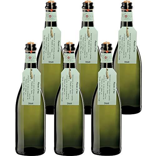 FIOCCO DI VITE Moscato D'Asti Docg Fiocco Di Vite Vino Bianco - 6 Bottiglie - 6x75cl