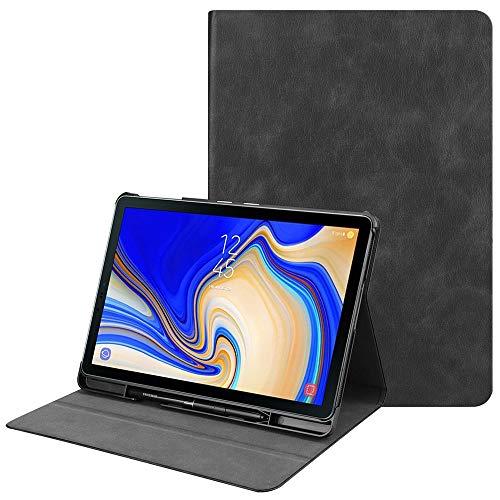 Capa de proteção Deekite para Galaxy Tab S4 10.5 polegadas com suporte de caneta compatível com Samsung Galaxy Tab S4 (T830/T835) - Preto - 62