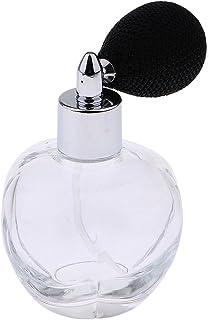 YangLand100ml Women Vintage Perfume Bottle Short Spray Atomizer Refillable Empty Glass Bottle (Black)