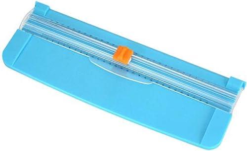 Massicot A4, Bleu Rogneuse Papier, GHKJOK Guillotine Papier, Portable Masico avec Sauvegarde de Sécurité pour La Déco...