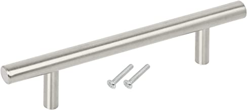 TRIXES Pack of 10 Stainless Steel Kitchen Cabinet Door Handles - Solid T Bar Handle Pull Bedroom Dresser Drawer Bathroom Wardrobe Hardware - 150mm