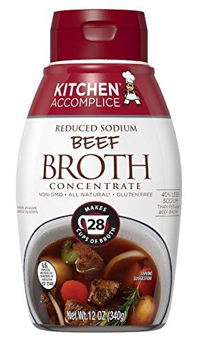 Kitchen Accomplice Reduced Sodium Beef Broth Concentrate, 12 Ounce