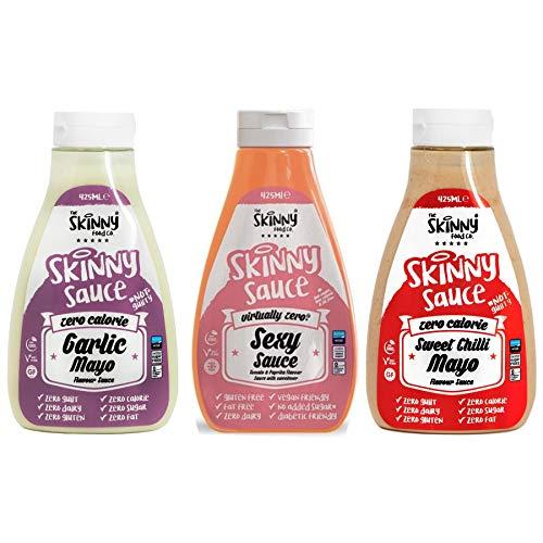 The Skinny Food Co Skinny Foods Garlic Mayo, Sweet Chilli Mayo & Sexy Sauce...