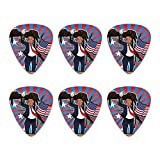 Patriotic Donald Trump with Eagle American Flag Gun Novelty Guitar Picks Medium Gauge - Set of 6
