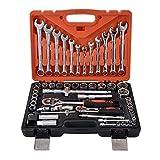 KANJJ-YU Werkzeuge Schraubenschlüssel 61 Stück/Set Steckschlüssel Set Schraubenschlüssel Auto...