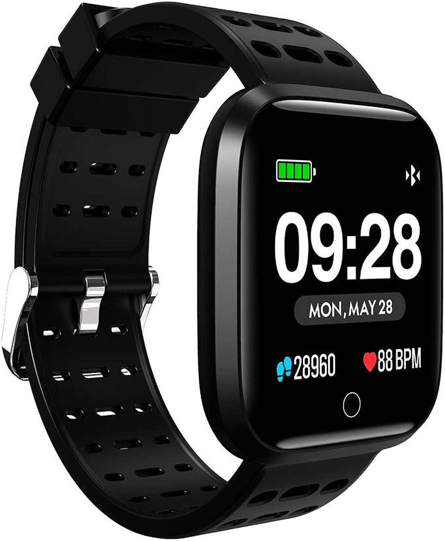 Fitness-Tracker Sleep Monitoring Sedentary Reminder Action Record Wettervorhersage Funktion,Blau