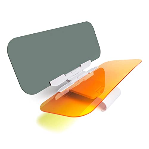 fa792e27 DIFINES Car Sun Visor for Day and Night, Anti-Glare Car Visor Extender,