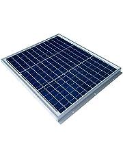 【 GWSOLAR 30W 薄型2.5cm 】太陽光パネル、12vシステム 蓄電/キャンピングカー充電に最適、表面取付穴6個、ソーラーパネルの表面から簡単に設置 、ケーブル付属、逆流防止ダイオード付き GWソーラー(GW-030H)