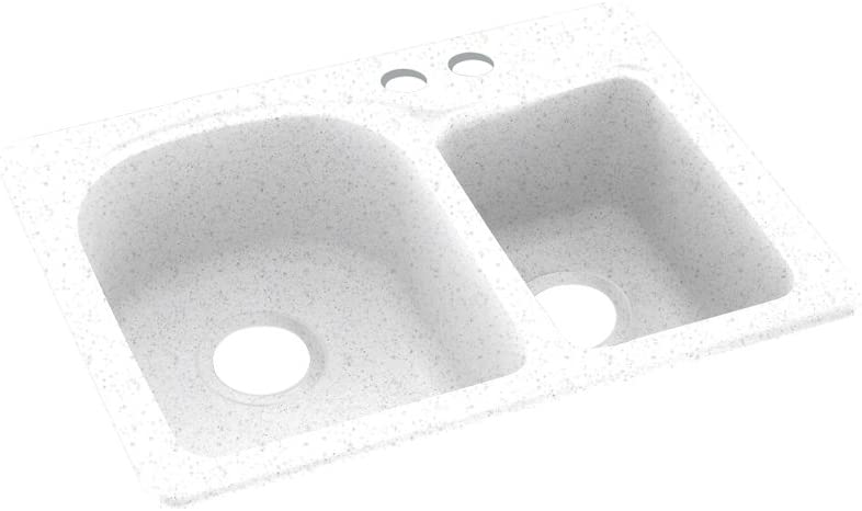 Swanstone KS02518DB.035-2B 35% store OFF 2-Hole Solid Surface Kitchen Sink 18