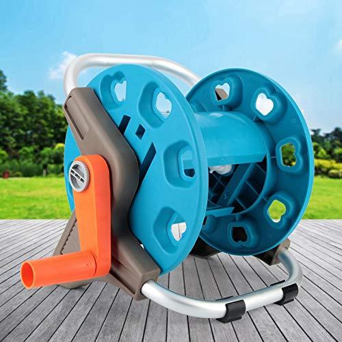 Fockety Carro de riego de jardín, Soporte de Carrete de Tubo de Manguera de Agua, fácil de Montar Que Ahorra Trabajo G1 / 2 para camión de jardín