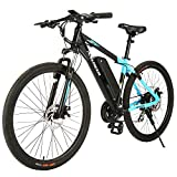 ANCHEER 350W 27.5'' Electric Bike, Electric Mountain Bike Newest 20MPH Adults Ebike with Removable 36V 10.4Ah Lithium-Ion Battery, Professional 24 Speed Gears