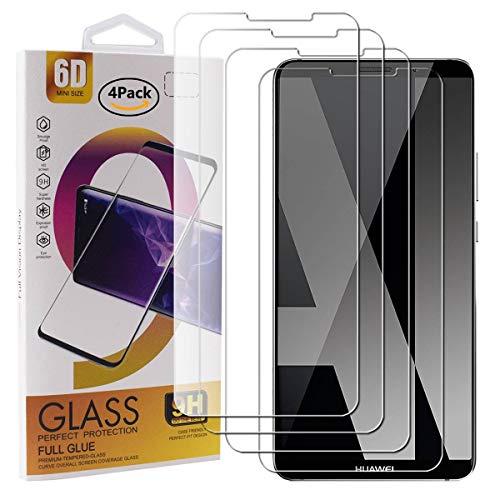 Guran 4 Pezzi Pellicola Protettiva in Vetro Temperato per Huawei Mate 10 PRO Smartphone 9H Durezza Anti-Impronte HD Alta Trasparenza Pellicola