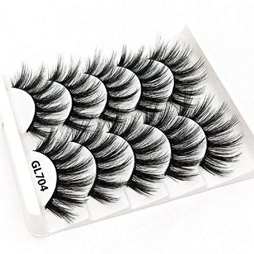 KADIS Natural Long Black False Eyelashes Fake Eye Lashes Makeup Extension Tools Professional Individual Eye Lashes,17