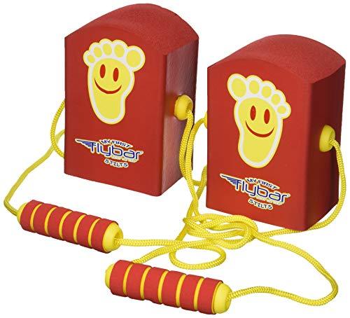 Flybar Mis Primeros pilotes - Pedales y Espuma chillido zancos para niños de hasta 3 y (Rojo)