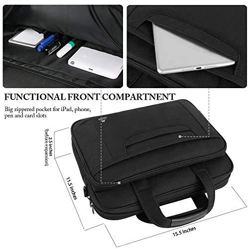Ytonet Laptop Briefcase,15.6 Inch Laptop Bag,Business Office Bag for Men Women,Stylish Nylon Multi-Functional Shoulder Messenger Bag for Notebook/Computer/Tablet/MacBook/Acer/HP/Dell/Lenovo,Black Grey