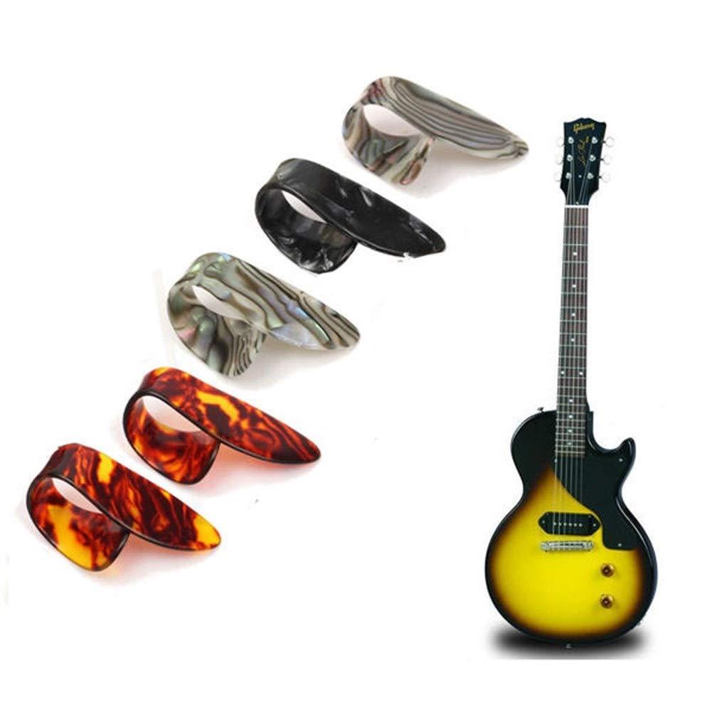 Dream Edge Partes de Instrumentos Musicales, 5pcs Guitarra Pulgar ...