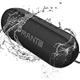 Portable Bluetooth Speaker, MANTO Durable Wireless Hi-Fi Loud Stereo Sound, 20 Hour Playtime, Microphone, IPX6 Waterproof Outdoor Party Wireless Speakers