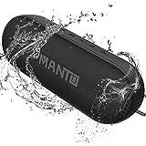 MANTO Altavoz Bluetooth duradero, portátil inalámbrico con sonido de alta fidelidad y graves ricos, 20 horas de reproducción, micrófono integrado y entrada AUX/SD para iPhone, Samsung, PC