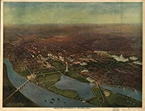 Map of Bird's-Eye View of Washington, D.C.-The nation's Capital District of Columbia Washington Washington Washington D.C Aerial Views District of Columbia Washington Washington (D.C.)