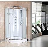 Nuie OPUS01-W Opus 800x800mm Modern Bathroom Quadrant <span class='highlight'>Shower</span> Cabin, 800mm x 800mm, White, 800 x 800 mm