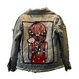 Dream-Store Little Big Girls Denim Jackets Jeans Coats Pants Dress Outwear (120cm, Coat)