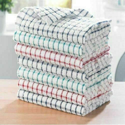 KB Tradax Geschirrtuch, Frottee, 100% Baumwolle, weich, Hotelqualität, 2/4/6/8/10/12 Stück, 100 % Baumwolle baumwolle, 12er-Pack