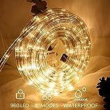 Hengda LED Lichterschlauch 40M 960 LEDs Warmweiß Lichtschlauch LED Strip