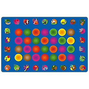 Circle Time Learning Kids Area Rug 7'6″ x 12′