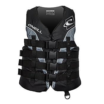 O Neill Men s Superlite USCG Life Vest,Black/Black/Smoke/White,XX-Large