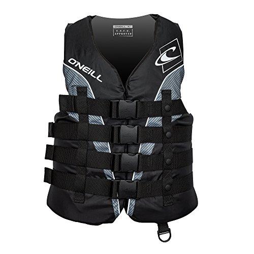O Neill Men s Superlite USCG Life Vest,Black Black Smoke White,Large