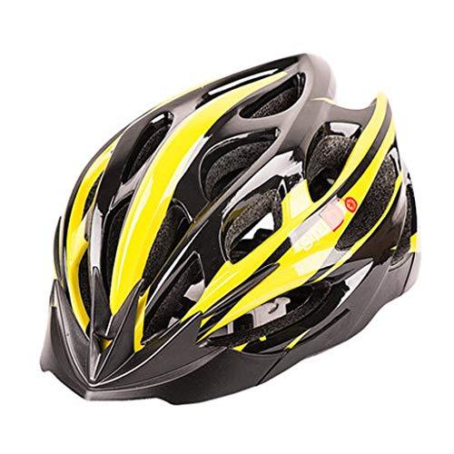 JM- Fahrrad Reithelm Balance Auto Ausrüstung Mountainbike eine Schutzhelm Fahrrad Zubehör Männer und Frauen (Color : Yellow, Size : L)