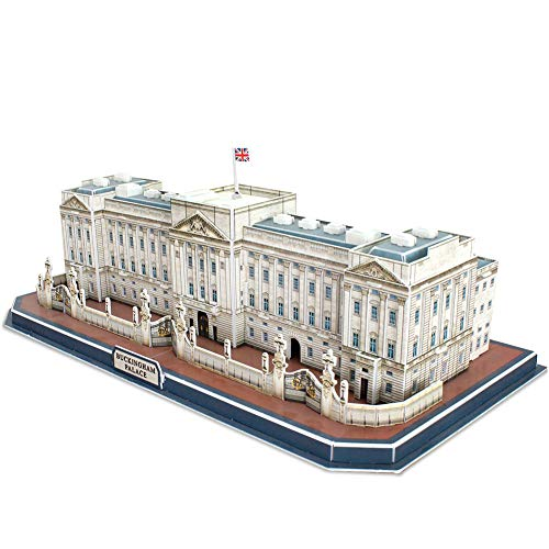 CubicFun 3D Jigsaw Puzzles UK London Buckingham Palace Building Model Craft Kit Gifts for Adults and Kids - 72 Pieces