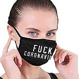 Fuck Cor&onaVirus Adult Scarf mas-k Anti-Dust Dust mas-k for Camping Travel Black