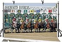 Zhy競馬フェスティバルの背景7X5FT競馬アリーナホリデーパーティー写真背景YouTubeフォトスタジオプロップ壁紙DSST404をカスタマイズ