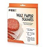 Hamburger Patty Paper Sheets, Wax Paper Squares 250 pcs 6' x 6' Non-Stick