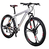smayer Mountain Bike 21 Speed 3-Spoke 29 Inches Wheels Dual Disc Brake Aluminum Frame MTB Bicycle Urban Track Bike