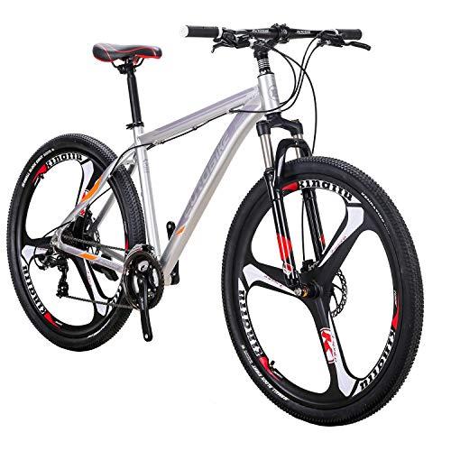 smayer Mountain Bike 21 Speed 3-Spoke 29 Inches Wheels Dual Disc Brake Aluminum Frame MTB Bicycle Urban Track Bike
