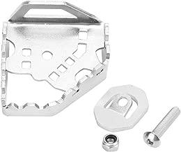 Qii lu Aleación de aluminio Palanca de freno trasero Pedal de ampliación, Palanca de freno Agrandar placa para CRF1000L Africa Twin Adventure Sports 14-18 (Negro, Plata)(Plata)