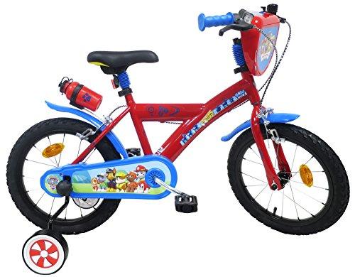 Paw Patrol fiets, 16 inch, voor jongens, Paw Patrol 2 remmen, PB/Kon, achter, kinderfiets, meerkleurig, 16 inch
