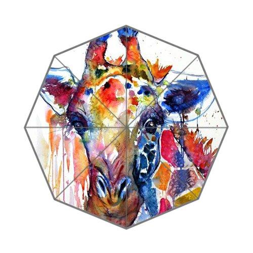 Flipped zomer aquarel schilderij Giraffe aangepaste kunst prints paraplu
