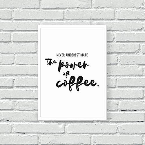 Koffie muur Print Koffie Lover Cafeïne Verslaving Keuken Decor Home Decor Wall Art Typografie Beker van Koffie Huis